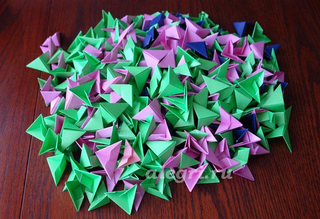 0(9) Модульное оригами рыбка схема - Оригамир