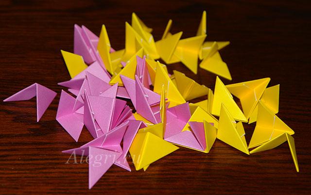 1(50) Цветок лотоса из бумаги в технике оригами (мастер-класс). Воспитателям детских садов, школьным учителям и педагогам