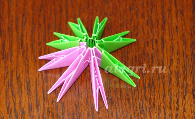 1(72) Модульное оригами рыбка схема - Оригамир