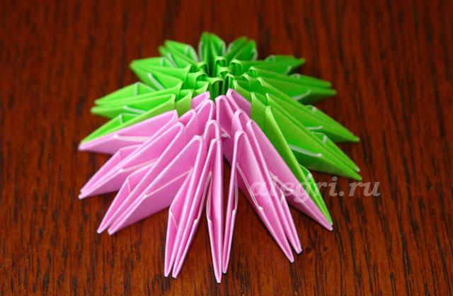 2(60) Модульное оригами рыбка схема - Оригамир