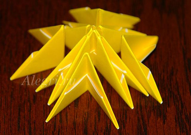 3(32) Цветок лотоса из бумаги в технике оригами (мастер-класс). Воспитателям детских садов, школьным учителям и педагогам