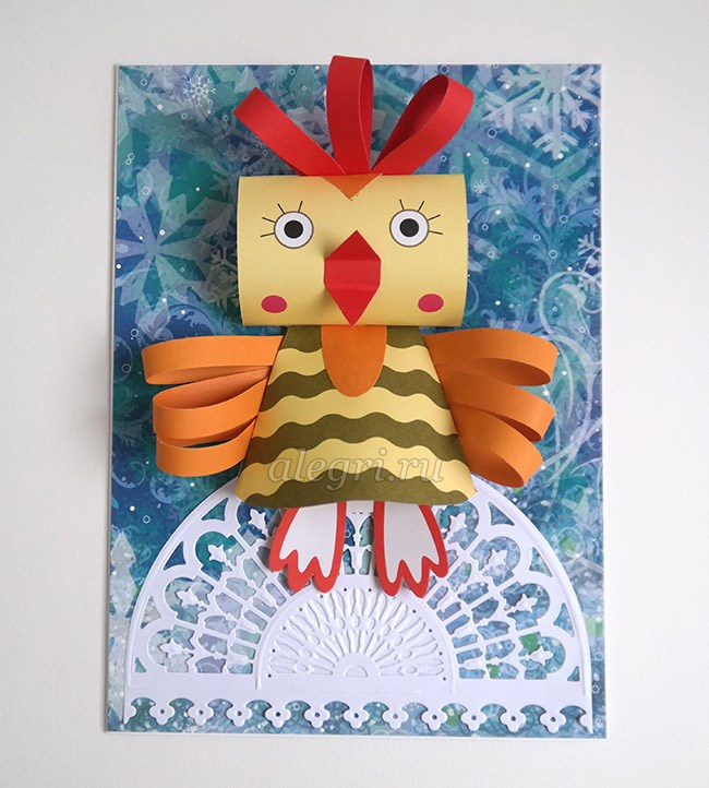 Объемные открытки с петухом