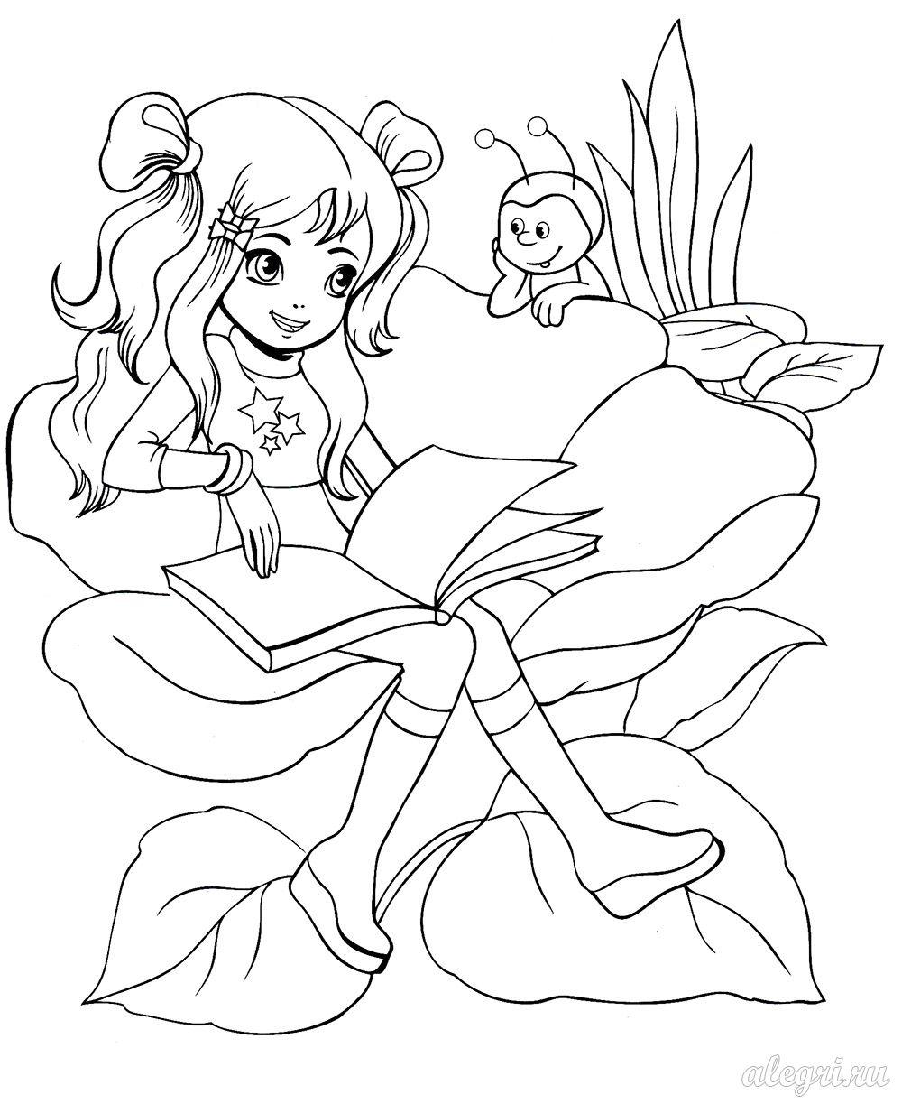 раскраски для девочек феи распечатать бесплатно