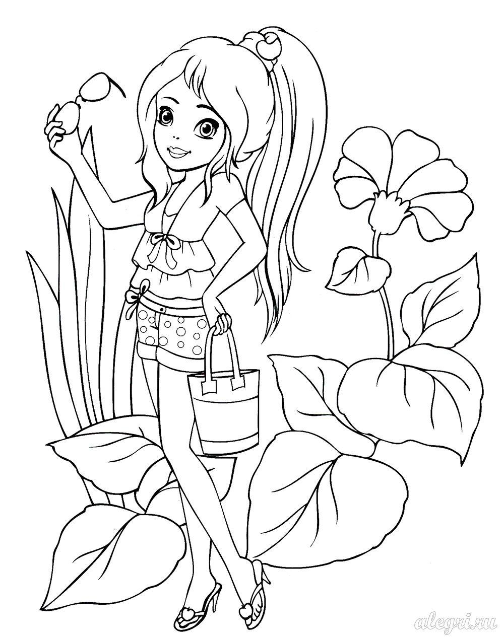 Раскраска для девочек 10-12 лет