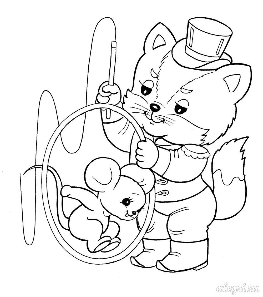 Раскраска для детей дошкольного возраста. Котёнок