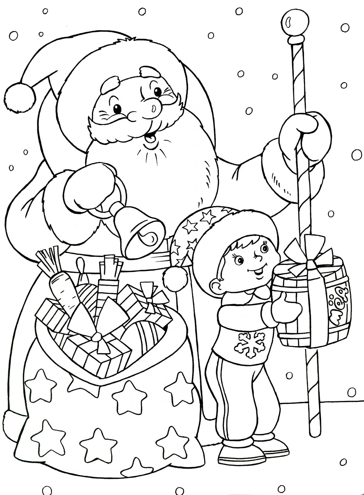 Открытка раскраска к новому году для малышей, надписью