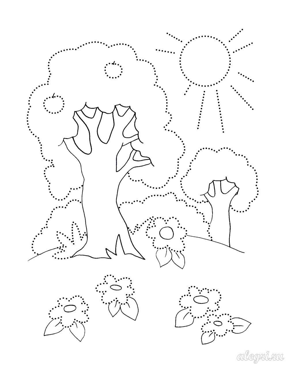 Раскраска. Природа летом