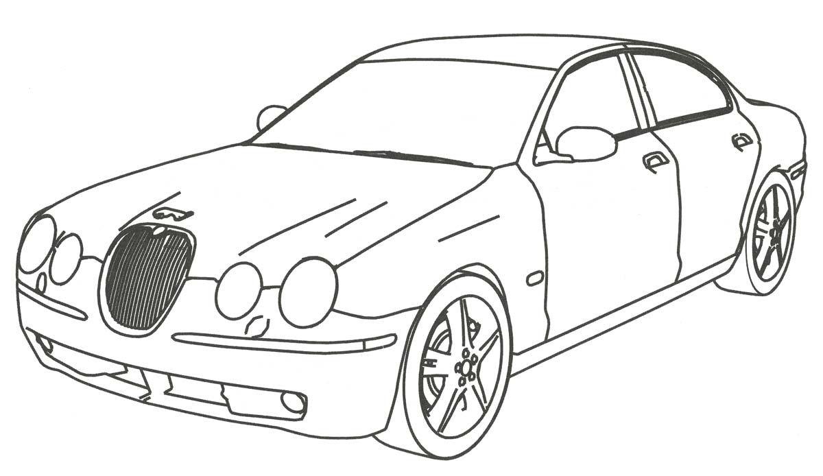раскраска Jaguar S Type великобритания