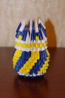 Модульное оригами. Карандашница