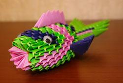 article2560 Модульное оригами рыбка схема - Оригамир