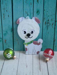 Новогодняя игрушка Собачка своими руками для детей. Мастер-класс с пошаговыми фото