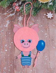 Новогодняя игрушка Поросёнок своими руками для детей. Мастер-класс с пошаговыми фото