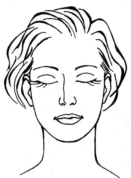 Картинки лицо девушки карандашом с закрытыми глазами