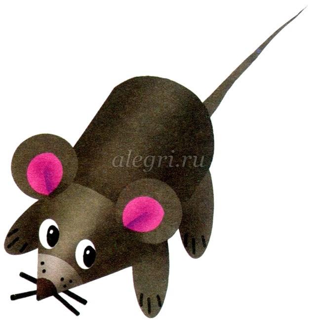 Мышка из картона своими руками